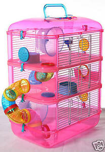 FANTAZIA-3-PINK-LARGE-HAMSTER-SMALL-ANIMAL-CAGE-NEW-NEW-NEW-NEW-NEW-NEW-NEW-NEW