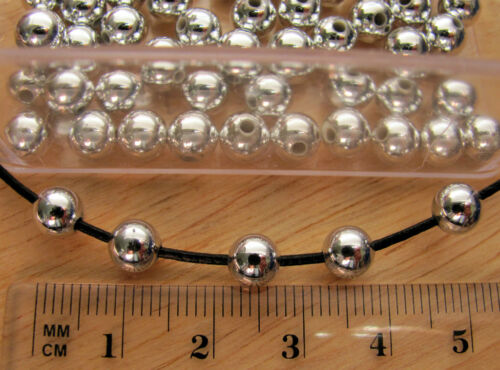 150 6mm smooth round metallic acrylic plastic ball beads silver gold