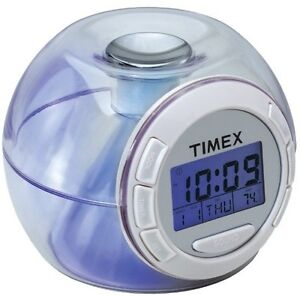 timex t035w nature sounds color changing battery powered alarm clock ebay. Black Bedroom Furniture Sets. Home Design Ideas