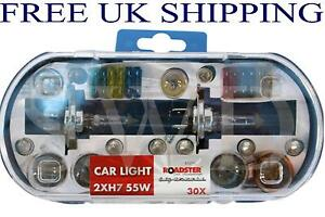 H7-12v-55w-Emergency-Spare-Bulb-Kit-Blade-with-blade-Fuses-Amber-Indicator-E4