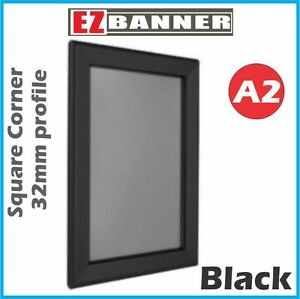 A2-Heavy-duty-Black-Square-Corner-Snap-Frame-Poster-Frame-Picture-Frame