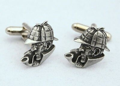 Sherlock Holmes Cufflinks in Fine English Pewter, Gift Boxed (H)