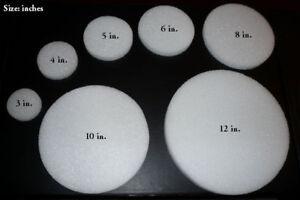 LOT-OF-12-12-034-x-1-034-Styrofoam-Discs-Disk-Crafts-Circles