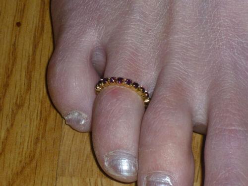 Crystal Toe Ring Various Colours Gold Tone Rhinestone