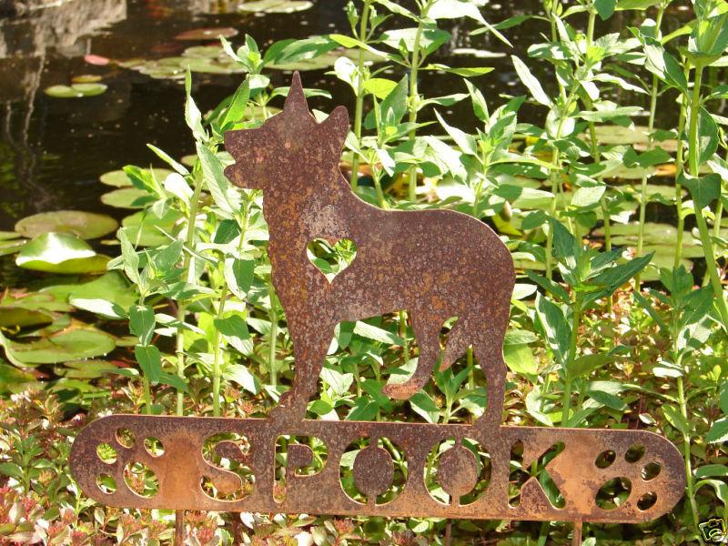 AUSTRALIAN CATTLE DOG PET MEMORIAL GARDEN YARD STAKE K9