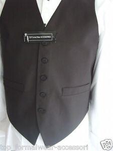 Boys-BLACK-Waistcoat-XXS-32-80cm-Chest-10-11-Years-BLACK-Bow-tie-P-P-2UK-1st-CL