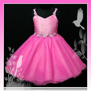 Christmas party pageant flower girls dresses size 2 3 4 5 6 7 8 10 12t
