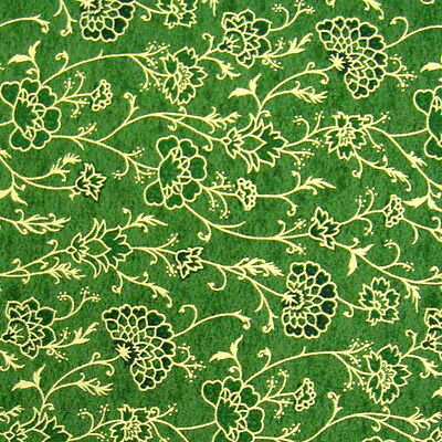 "C1118-16MFQ FABRI-QUILT GILDED ""Christmas Jacquard"" #10316616 Green by FQ"