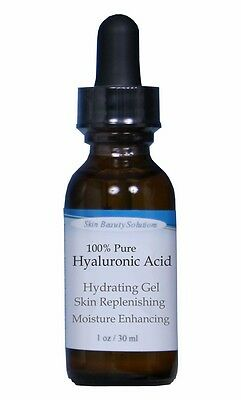 1oz HYALURONIC ACID Skin HA Serum Non-Greasy For Younger Hydrated Plump Skin