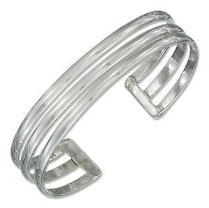 7-034-Solid-925-Sterling-Silver-Triple-Row-Cuff-Bracelet-Made-in-Mexico-10mm-Wide