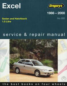 gregorys workshop service repair manual book hyundai excel x1 x2 x3 rh ebay com au Hyundai Excel Wagon 1994 Hyundai Excel