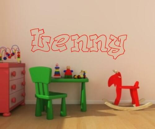 Wandtattoo 1 Buchstabe Name Kind Baby Graffiti Kinder