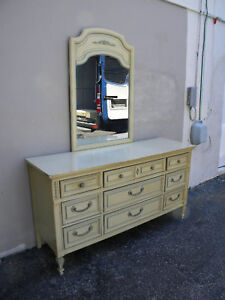 French Dresser With Mirror By Dixie Furniture Company 956 Ebay
