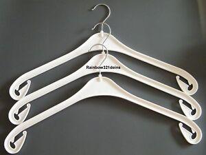 50 kleiderb gel na 43 in kunststoff wei mit drehbaren haken nagelneu ebay. Black Bedroom Furniture Sets. Home Design Ideas