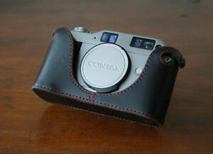 Mr-Zhou-Red-Stitching-Leather-Half-Case-for-Contax-G1