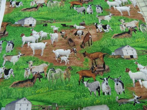 "motivo Patchwork sustancia All Over /""cabras en el Prado/"" 50 x 110 cm BW multicolor m"
