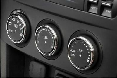 Mazda MX5 Mk3 Alloy Heater Control Knob Rings Surrounds