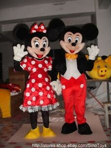 mickey maus und minnie maus maskottchen kost m ger ebay. Black Bedroom Furniture Sets. Home Design Ideas