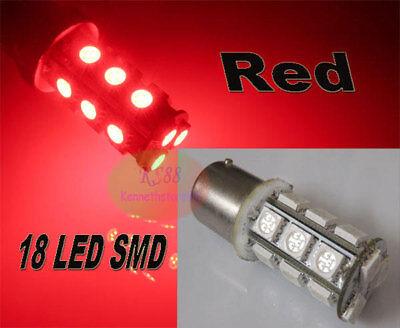 2pcs Red 18 SMD LED 1157 7528 BAY15D Signal Tail Brake Lgiht Lamp Bulb