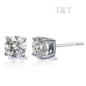 T-amp-T-4mm-WGP-Clear-CZ-Round-Stud-Earrings-ER04
