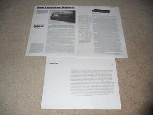 dbx 224 Type II NR Unit Review, 3 pg, 1980, Full Test, Rare Info!