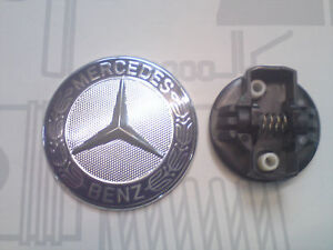 emblem logo motorhaube mercedes benz amg w210 w204 w203 ebay. Black Bedroom Furniture Sets. Home Design Ideas
