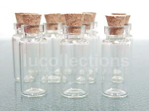 100-Clear-Glass-Bottles-Vials-2ml-with-Corks