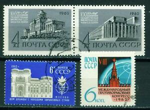 Russia-Arts-Famous-Moscow-Architecture-1962-set