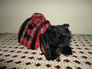 Animal Alley Toys R Us Black Scottish Terrier Plush in Dog Case 6 Inch