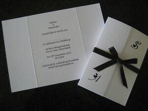 100 DIY Gatefold Personalised Wedding Invitations | eBay