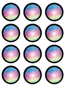 12 DISCO BALL EDIBLE ICING CUPCAKE CAKE TOPPER IMAGES | eBay