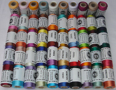 50 Rayon Embroidery Machine Thread 50 Different Colours