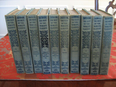 1909 THE BEST OF THE WORLD'S CLASSICS-10 VOLUME SET-BY HENRY CABOT-LODGE