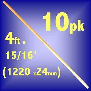PACK-OF-10-Wooden-Broom-Handles-4ft-x-15-16-1220-x-24mm-brush-sweeping-pk