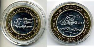BellagioTen-Dollar-10-Gaming-Token-999-pure-silver-w-gold-tone-edge-AAA-Diam