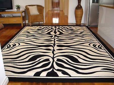 EXTRA LARGE FLOOR RUG CARPET PATTERNED MODERN DESIGNER ZEBRA 330 x 240 #4501B41
