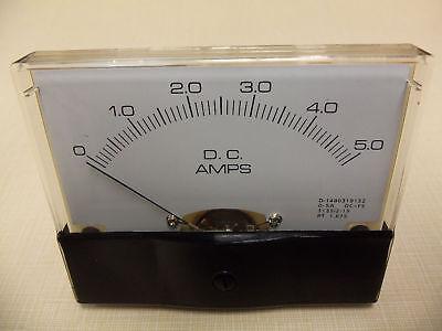 "Dc. Panel METER 0 - 5 Amp. 4"" X 3 1/2"" NEW For CB Radio Ham Amp Amplifier"