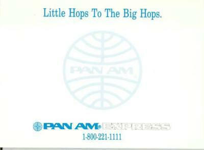 Pan Am American PAA Express Airlines Vintage Note Pad