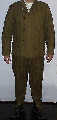 Russian MILITARY WW2 WINTER ski Jacket Pants Fufaika Suit + Underwere Suit sz L