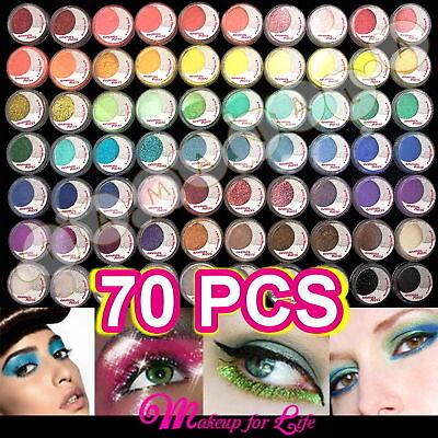 MAKEUP 70 Full COLOR TINY POWDER Pigment GLITTER SHEET EYESHADOW Cosmetics SET