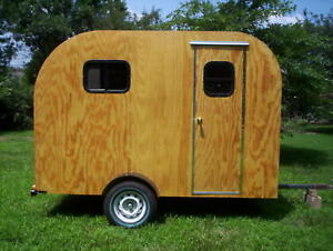 teardrop camper trailer tear drop rv camp plans 2 ebay