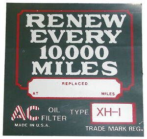 1926-1927-1928-1929-1930-1931-32-Buick-Oil-Filter-Decal