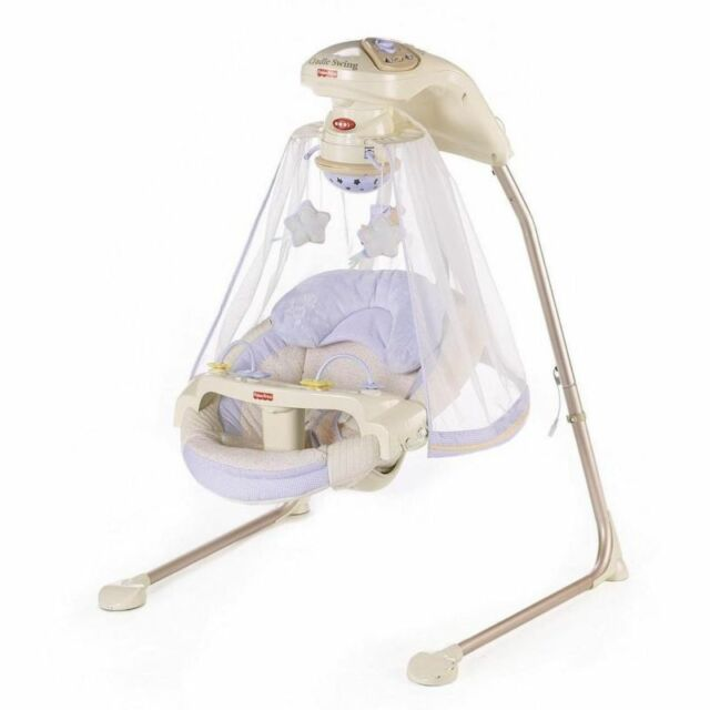NEW & SEALED! Fisher-Price Papasan Cradle Swing with 16 Songs (Starlight)