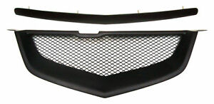 Acura-TL-07-08-2007-2008-Type-S-Hood-Molding-Front-Bumper-Mesh-Grill-Grille