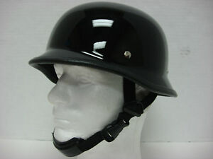 S ~ Motorcycle Biker Cruiser Novelty German Helmet Chopper Softail Sportster