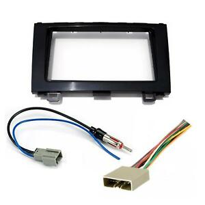 double din dash kit wire harness antenna adapter for honda crv image is loading double din dash kit wire harness antenna adapter