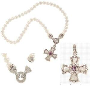 Judith-Ripka-Sterling-Cross-Enhancer-w-18-034-Simulated-Pearl-Necklace-QVC-350