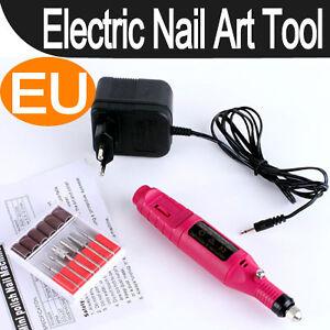 Pen-Shape-Electric-Nail-Drill-Art-Manicure-Machine-File-Tool-6-Bits-Acrylic