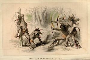 Brownell-039-s-Indian-Races-H-C-1853-EXECUTED-CAPTIVE