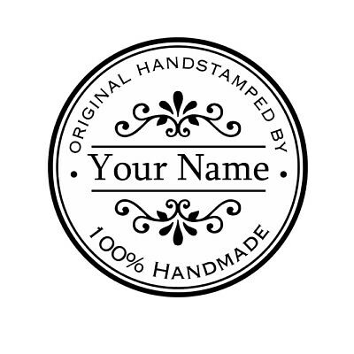 MOUNTED  PERSONALIZED CUSTOM RUBBER STAMPS HS04 GIFT